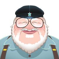 georgerrmartin.com Logo