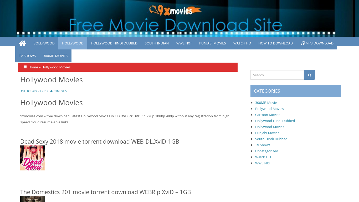 hollywood movies torrent download sites
