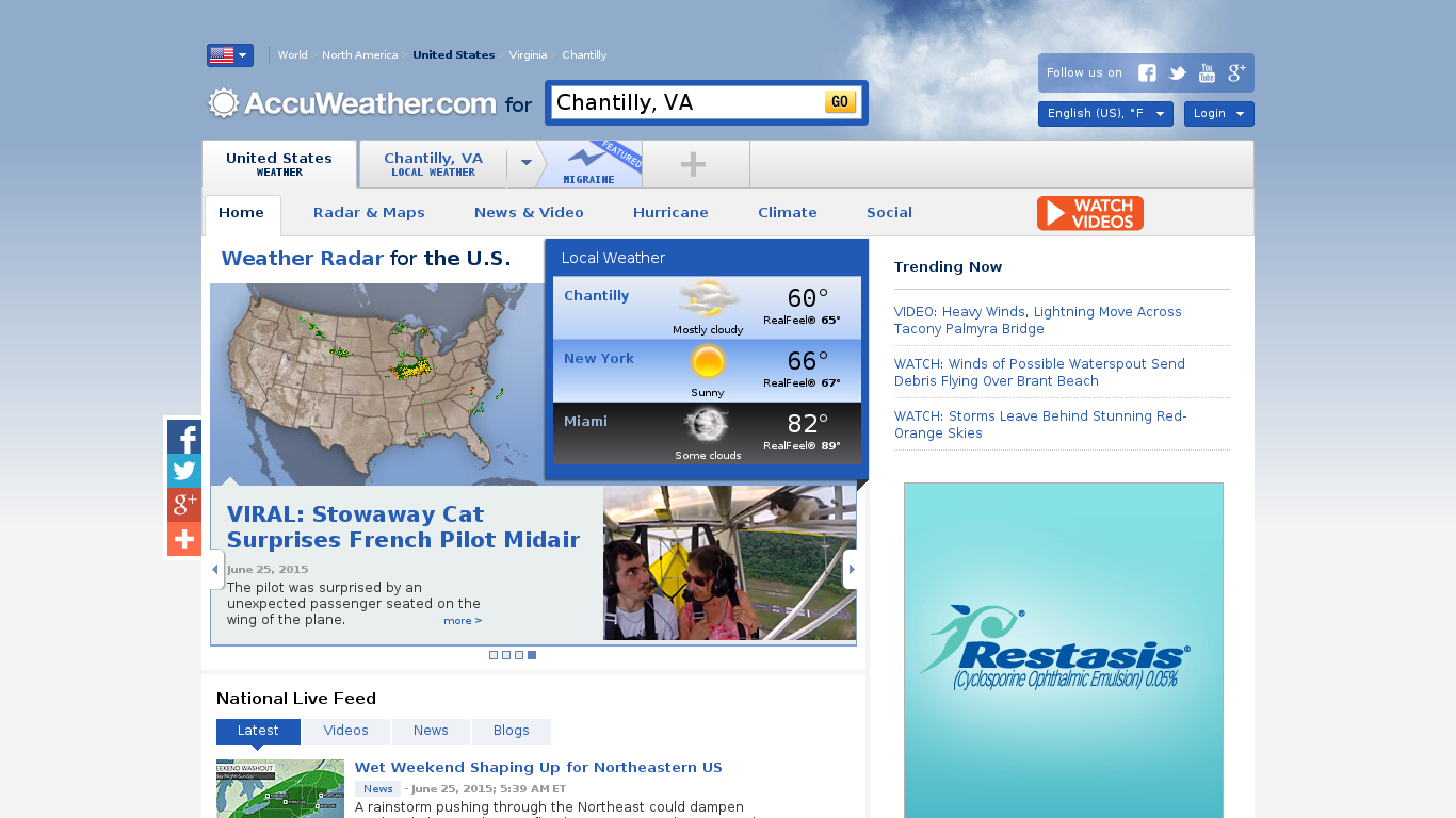 Accuweather - Go to accu weather