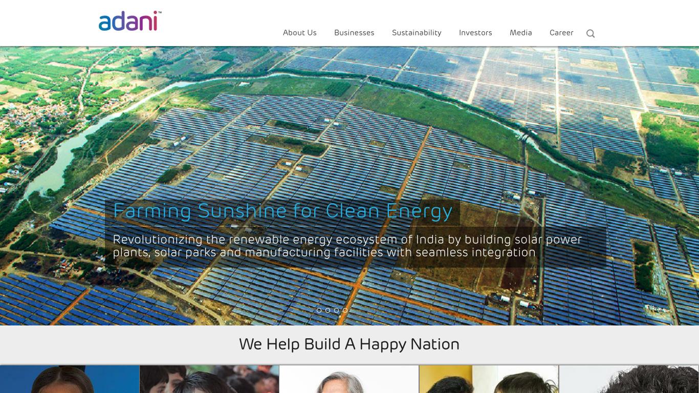 adani.com Screenshotx