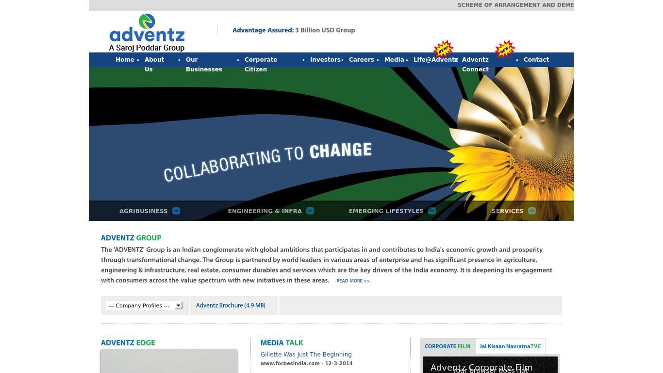 adventz.com Screenshotx