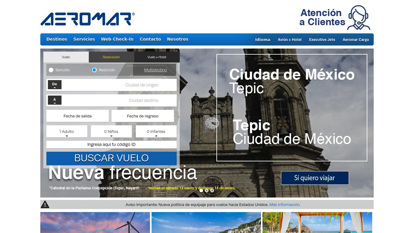 aeromar.com.mx Screenshotx