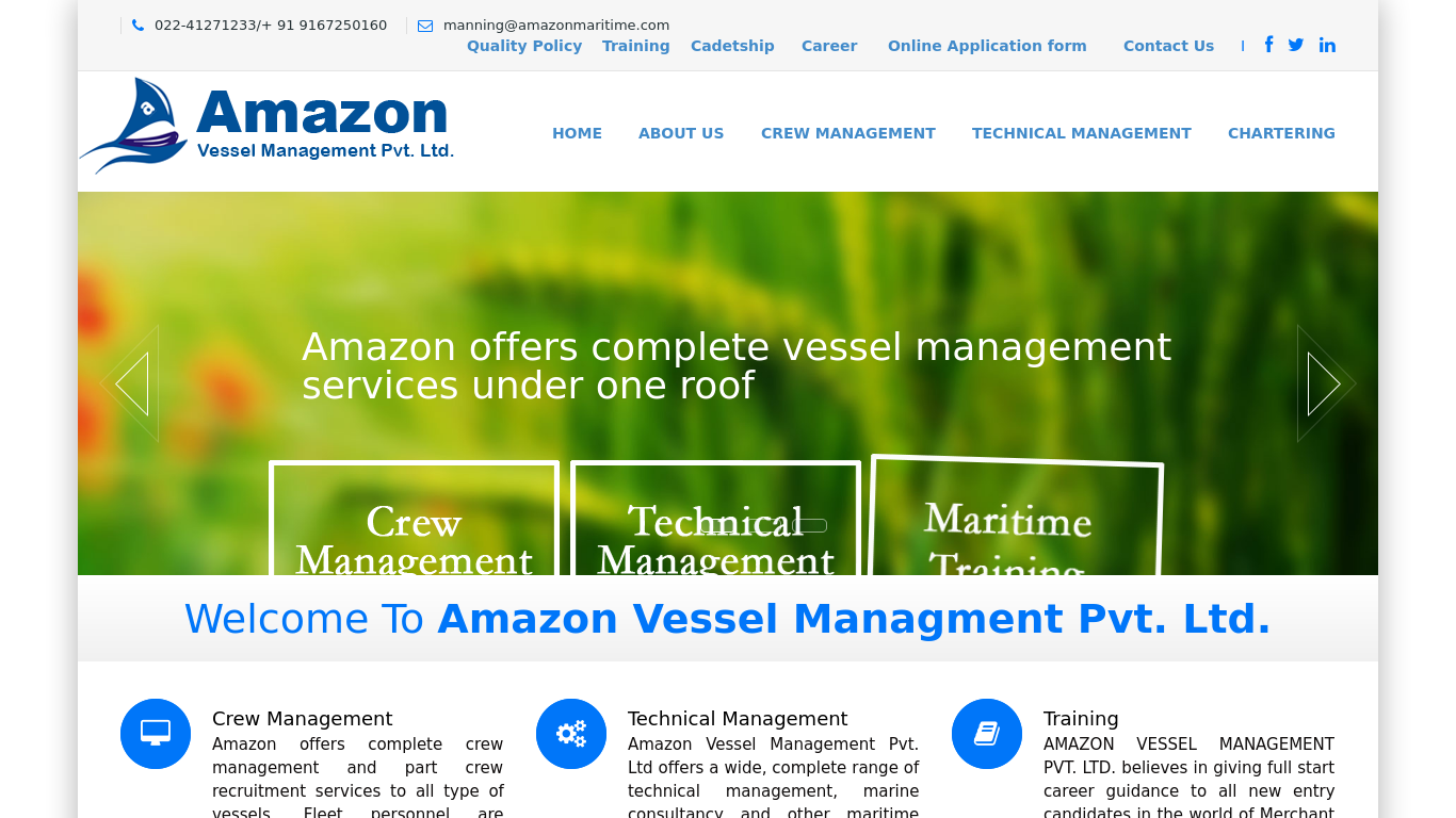 amazonmaritime.com Screenshotx