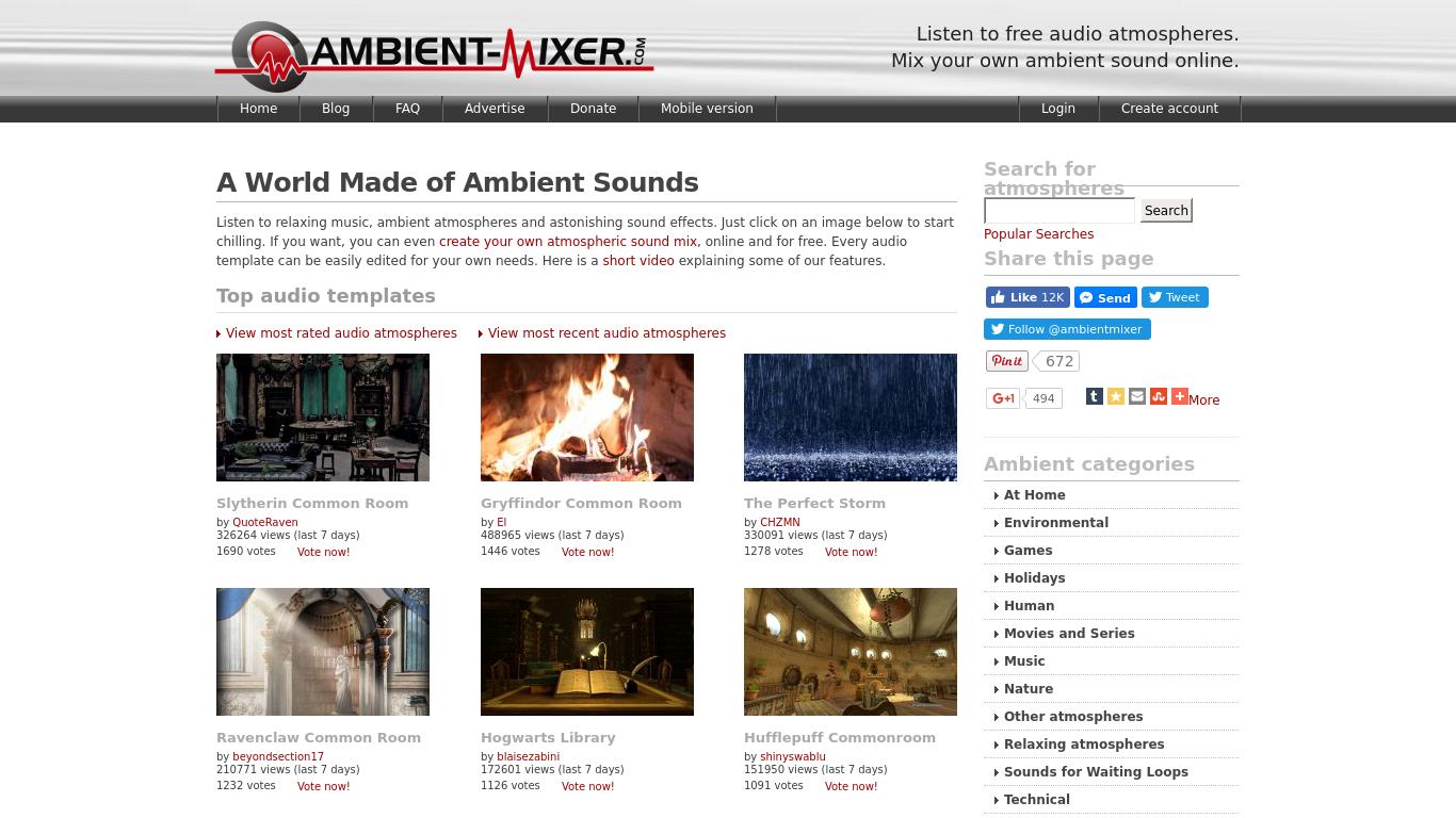 Ambient Mixer ambient mixer