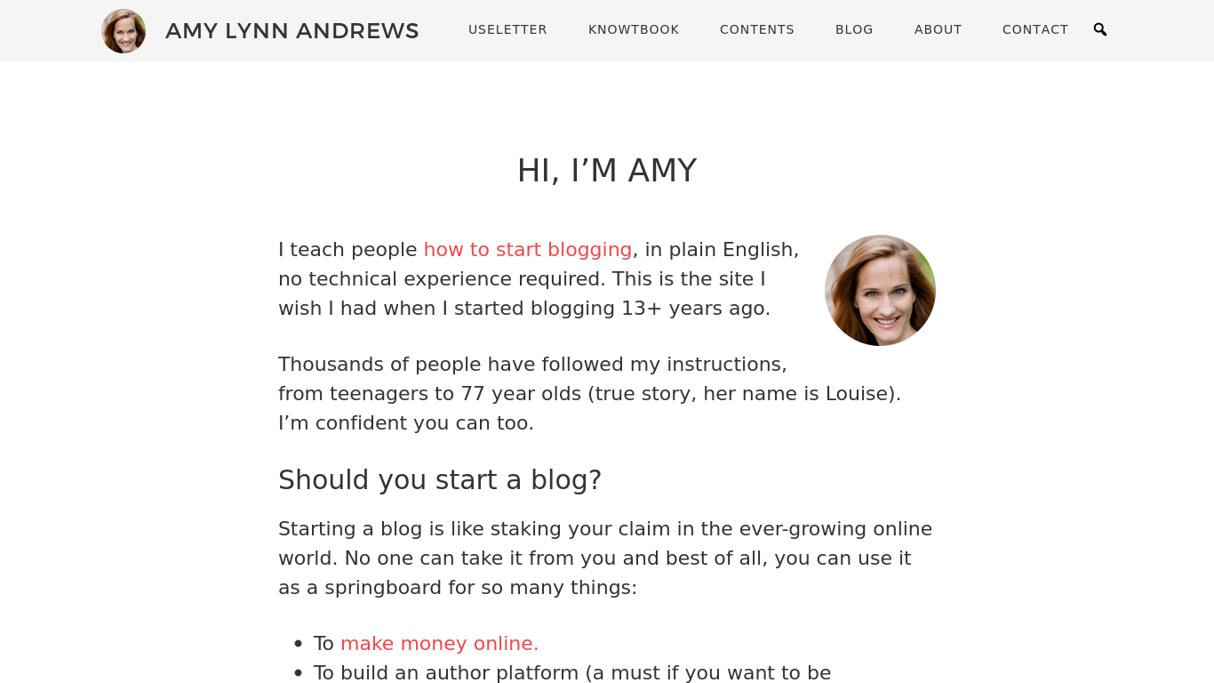 amylynnandrews.com Screenshotx