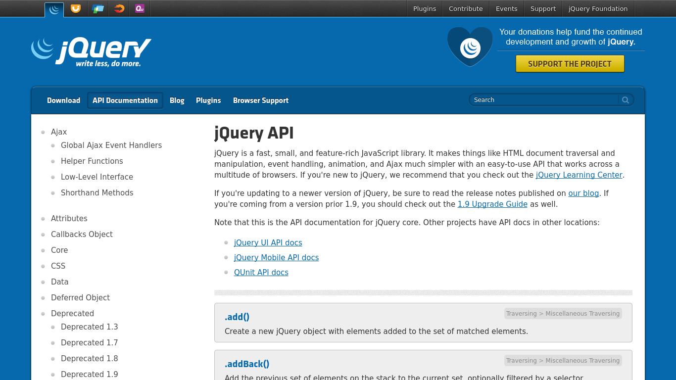 api.jquery.com Screenshotx