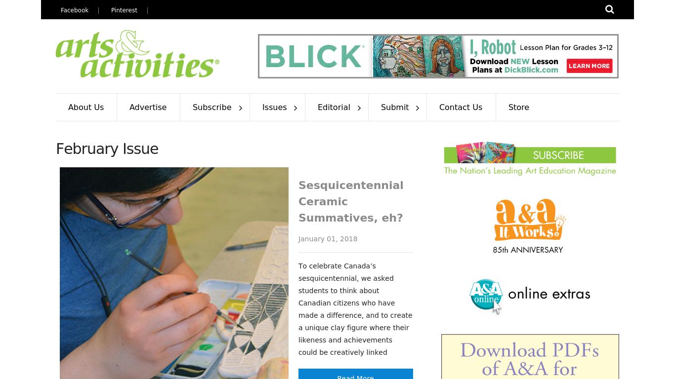 artsandactivities.com Screenshotx
