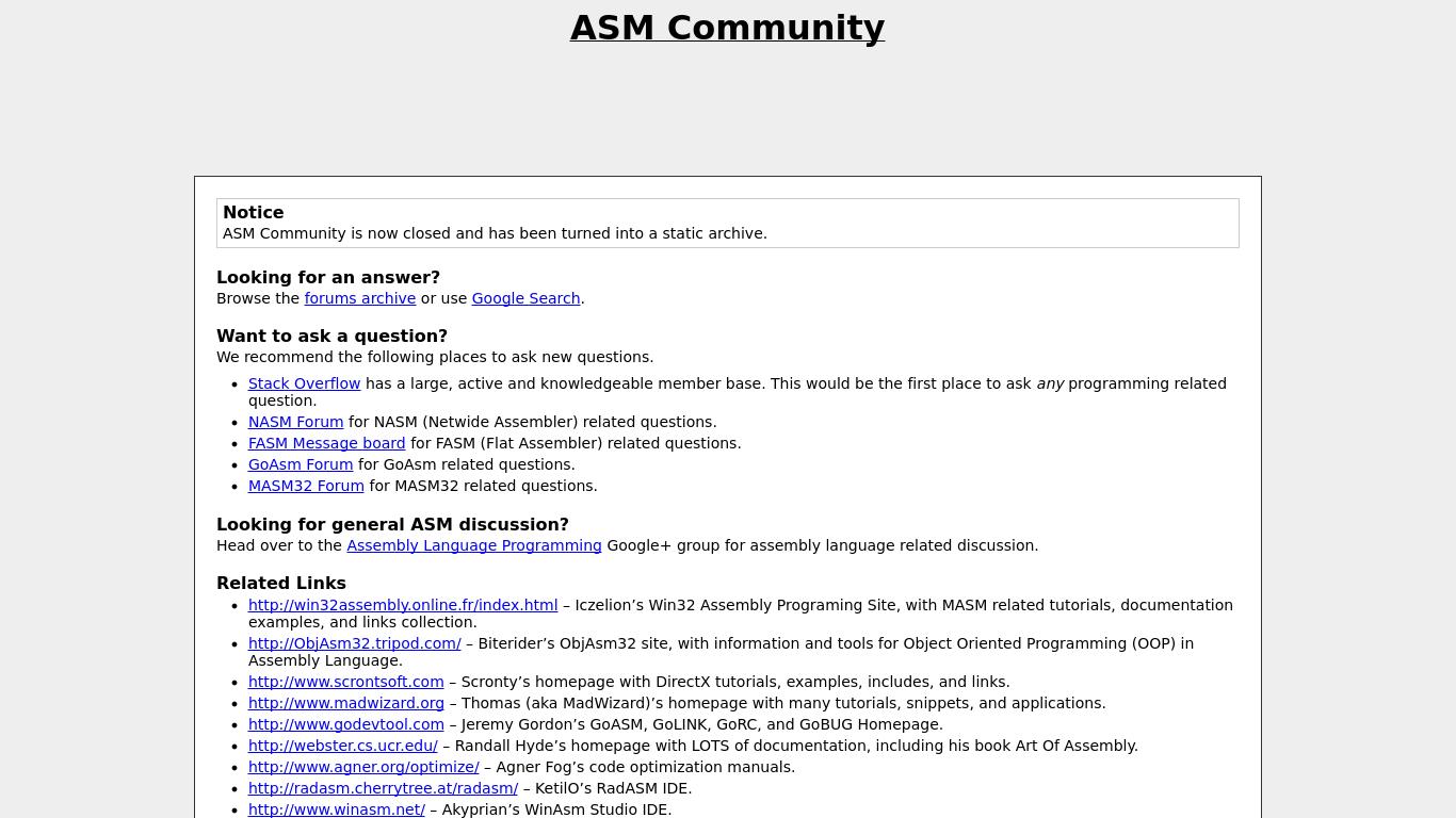 ASM Community