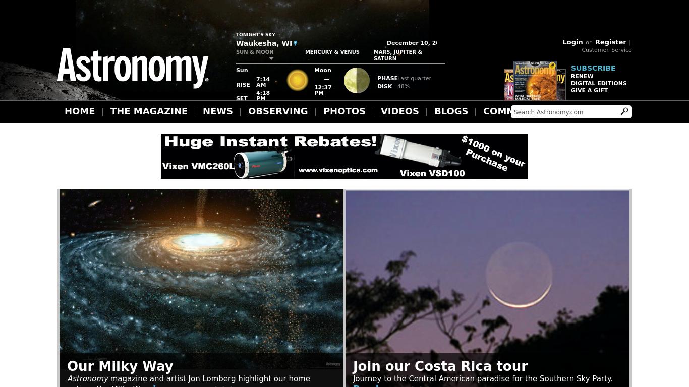 astronomy.com Screenshotx