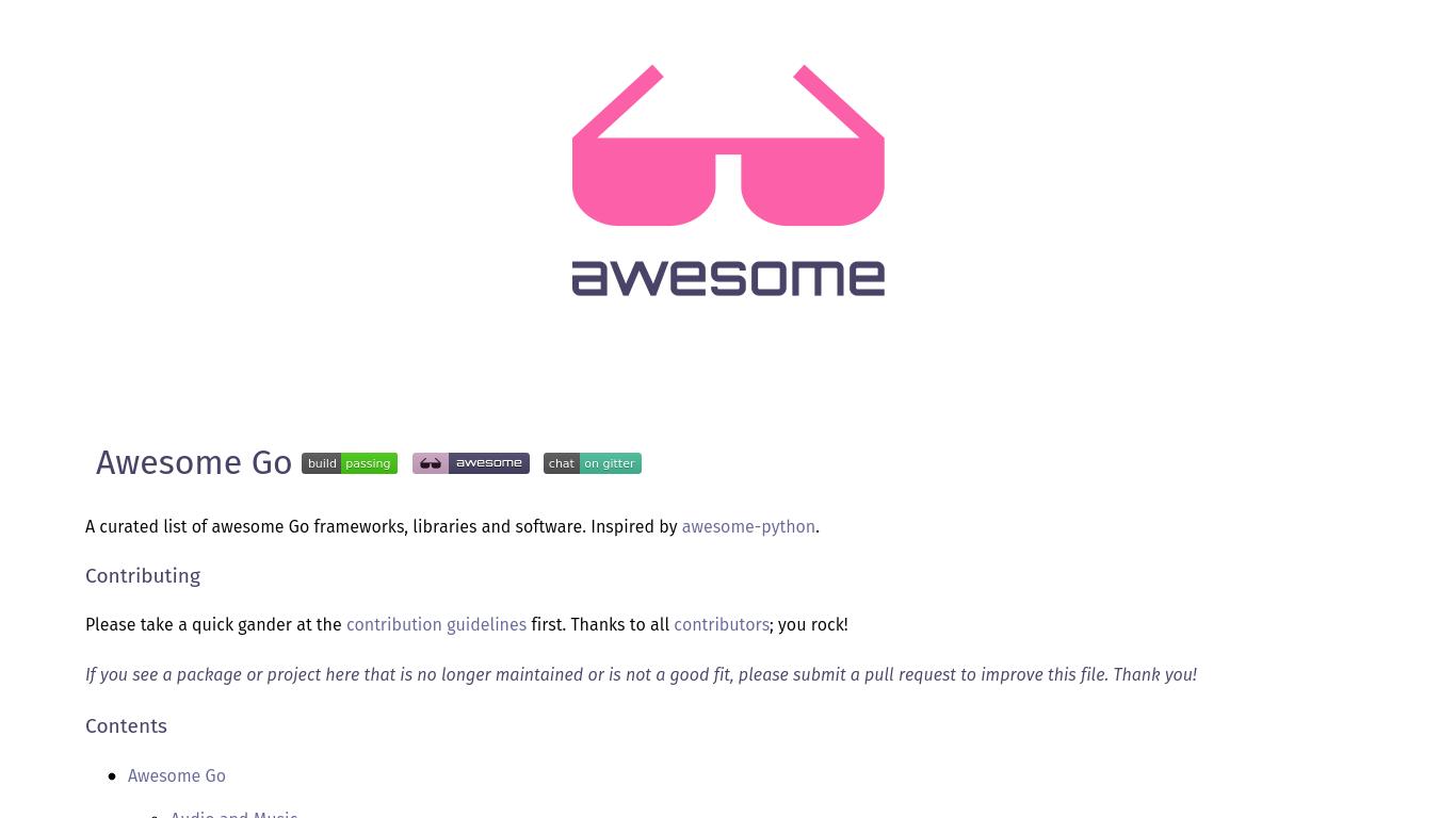 awesome-go.com Screenshotx