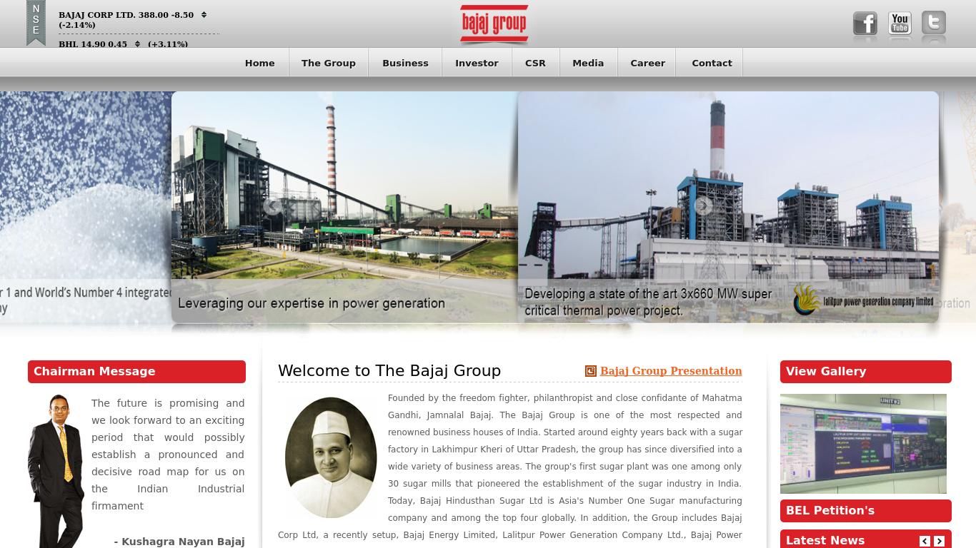 bajajgroup.org Screenshotx