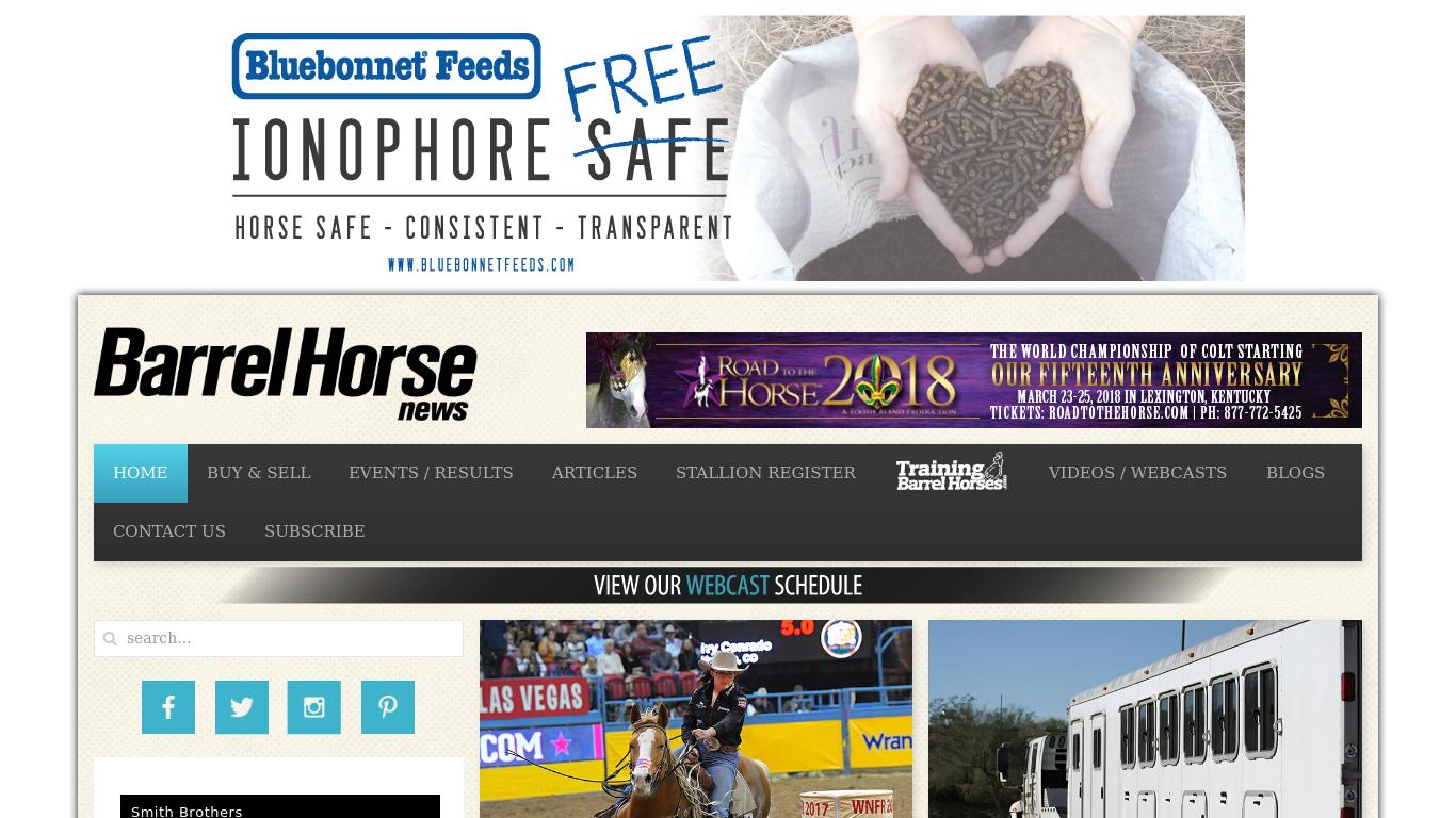barrelhorsenews.com Screenshotx
