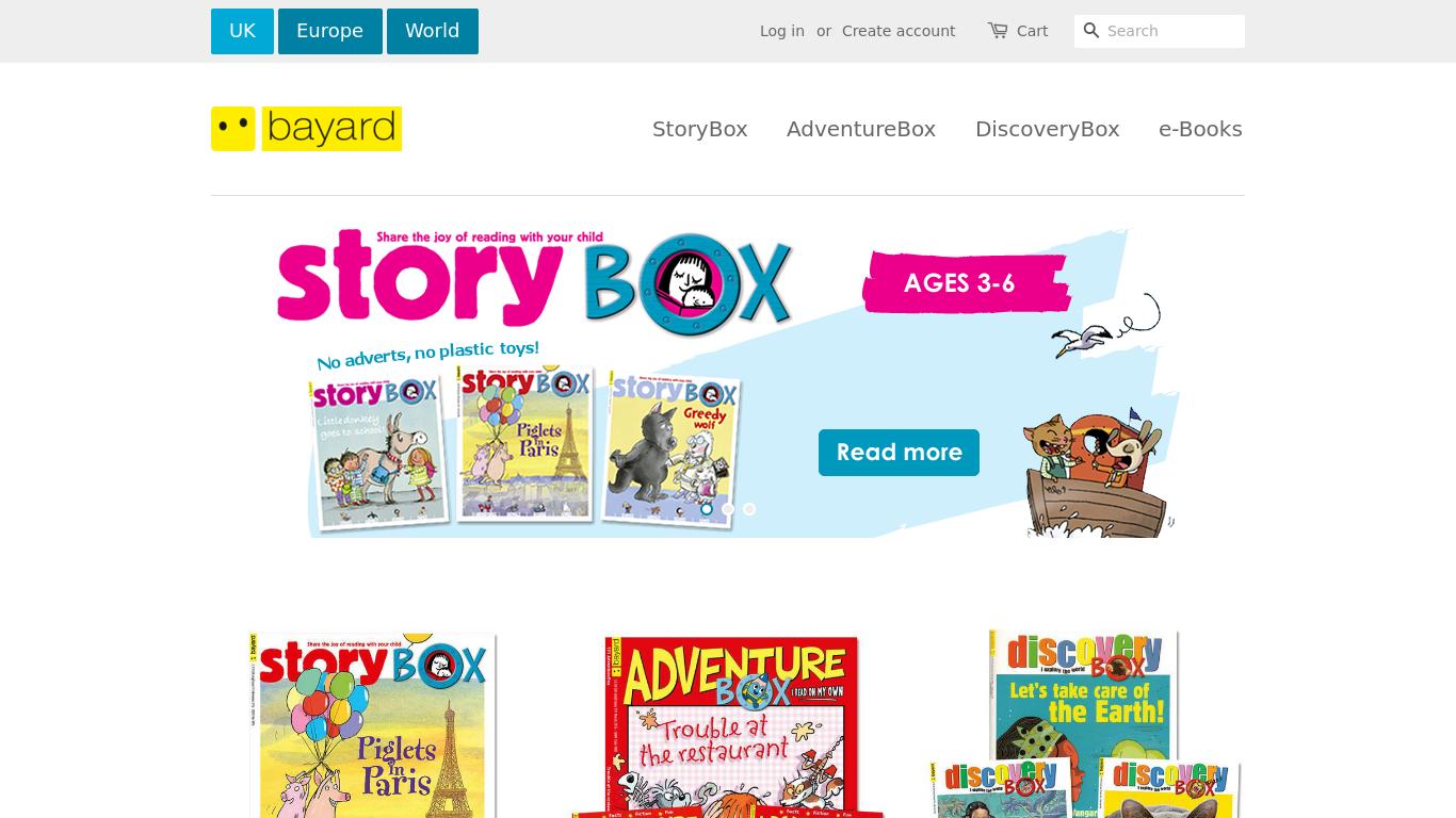 bayard-magazines.co.uk Screenshotx