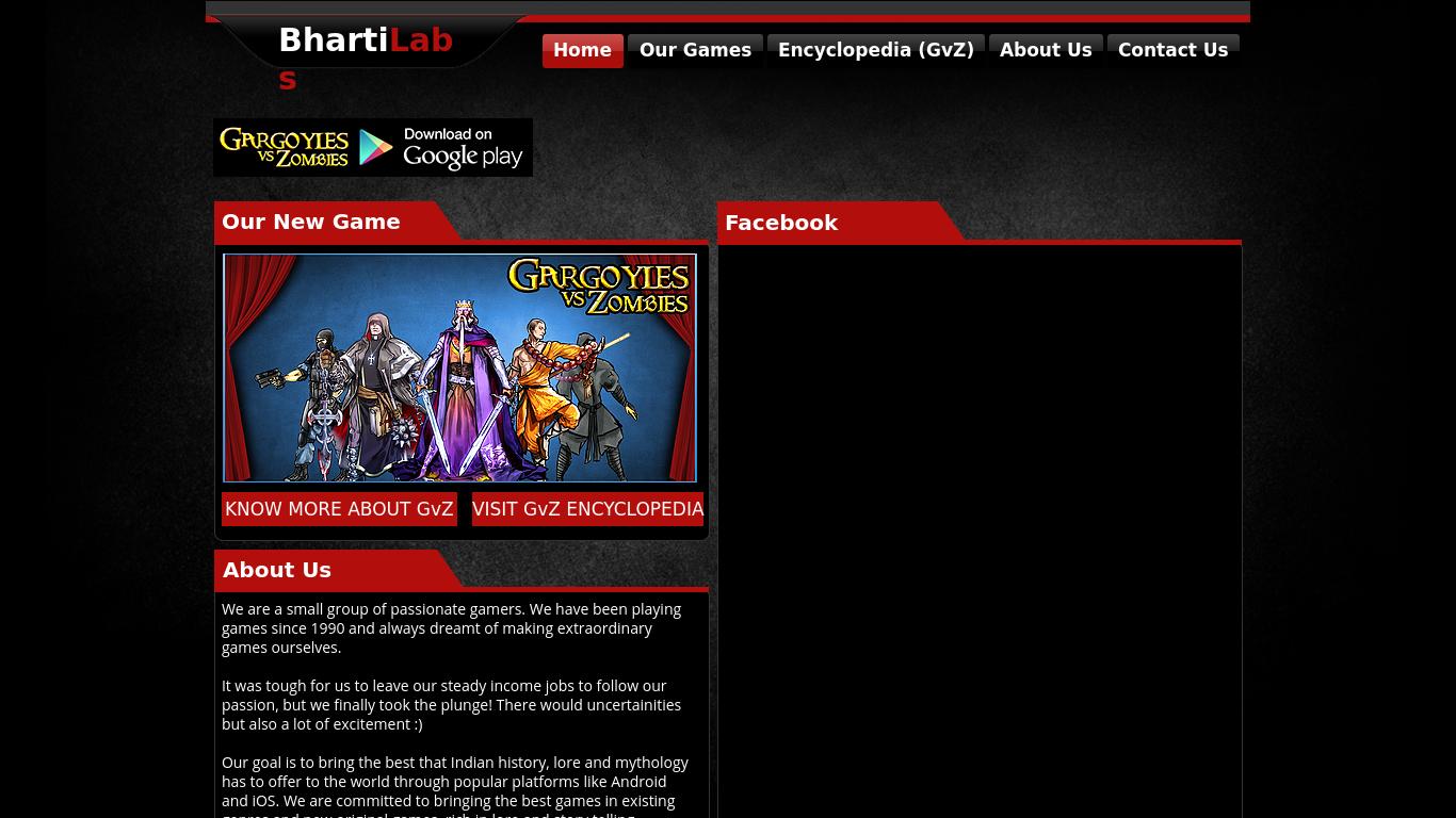 bhartilabs.com Screenshotx