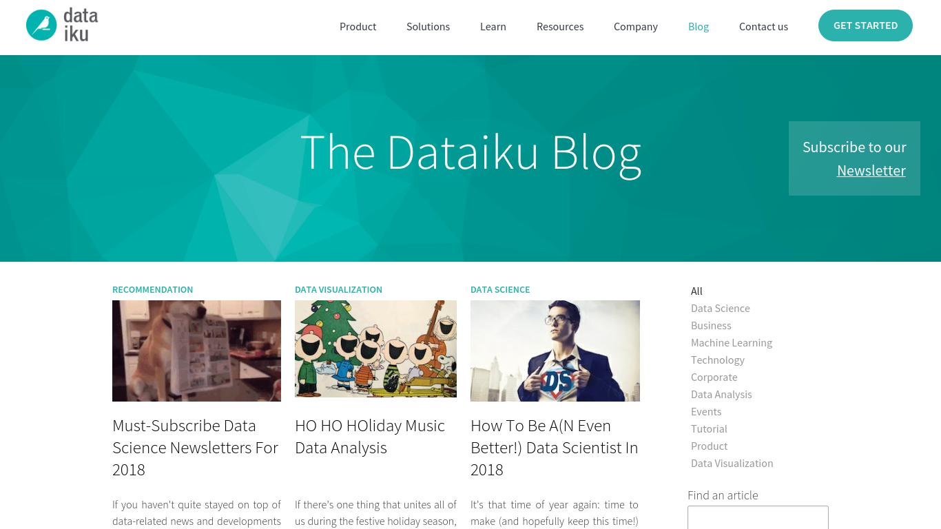 blog.dataiku.com Screenshotx
