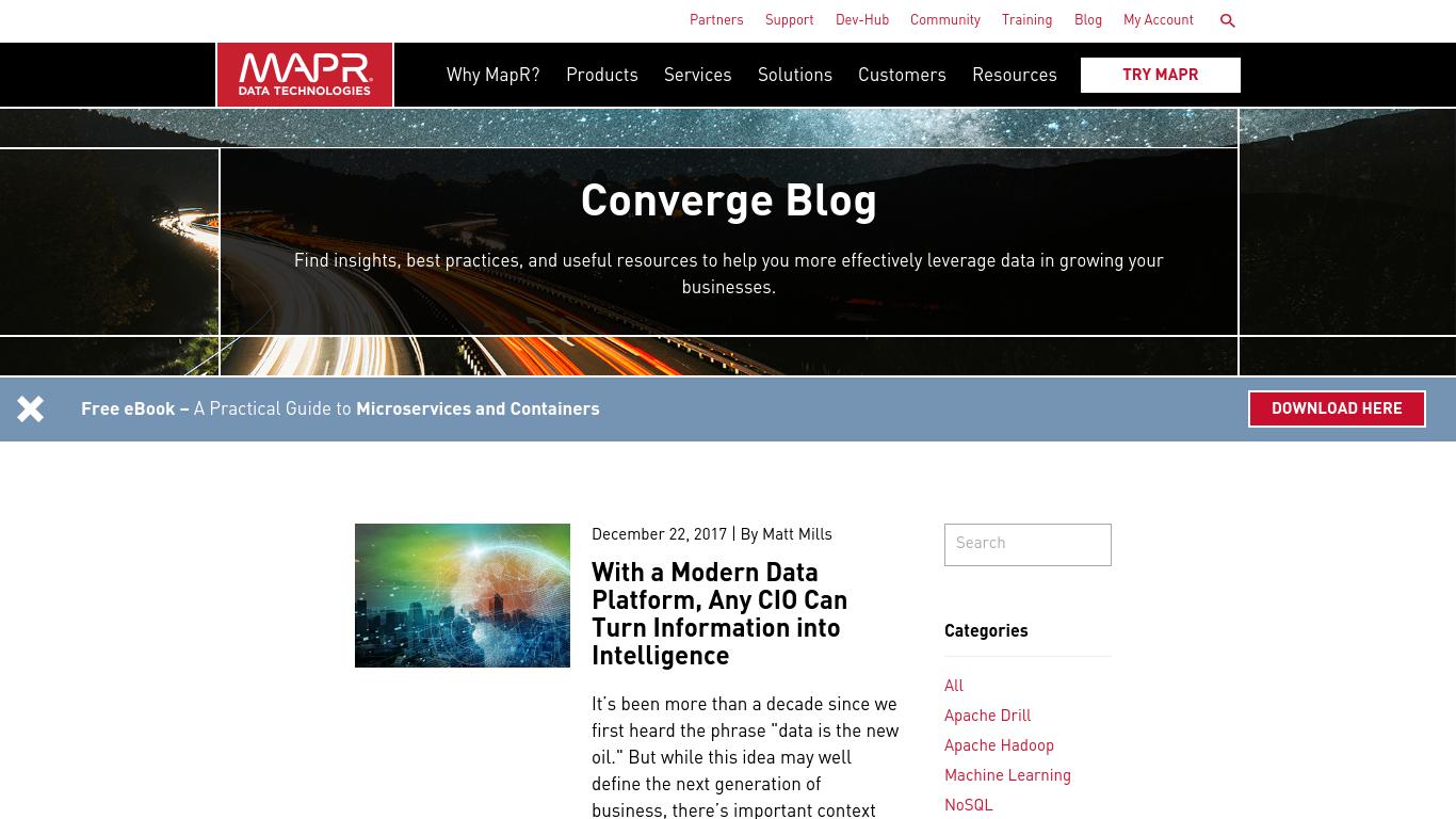 blog.mapr.com Screenshotx