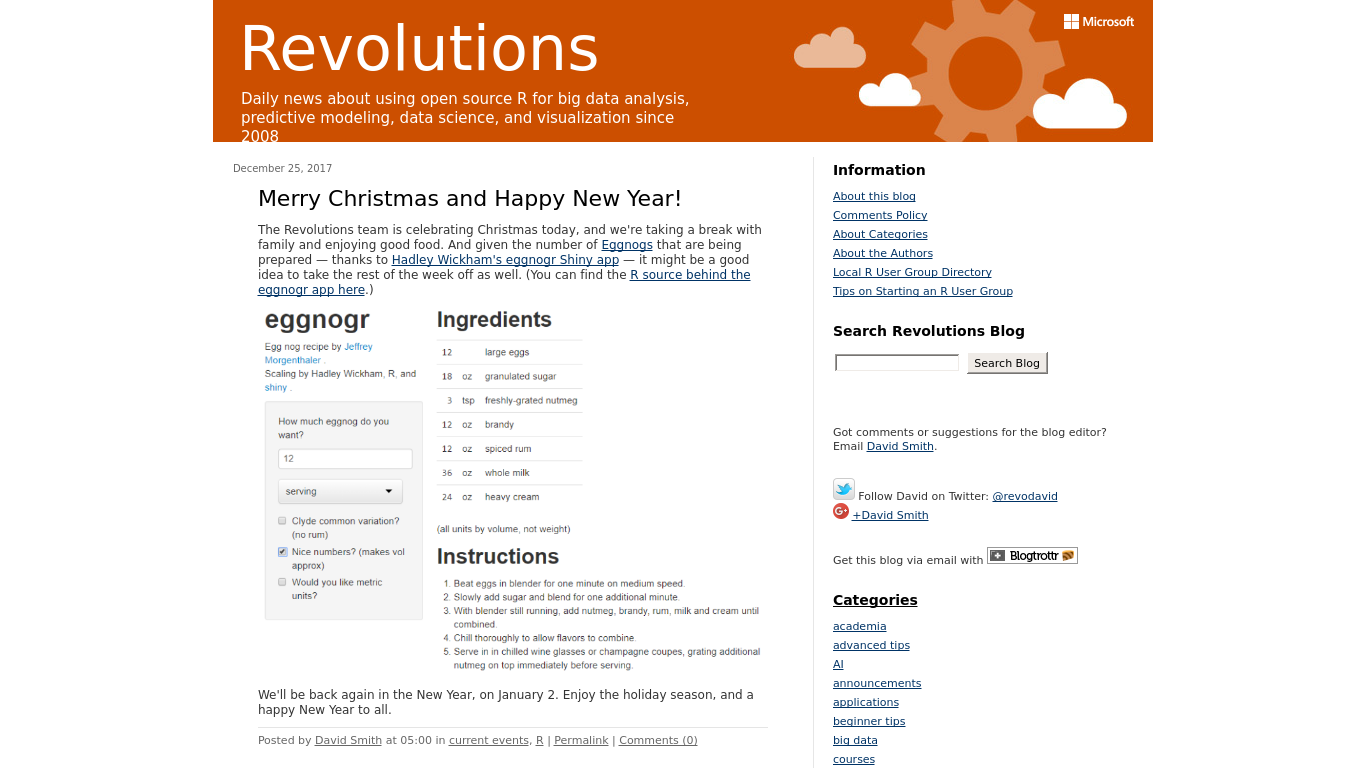 blog.revolutionanalytics.com Screenshotx