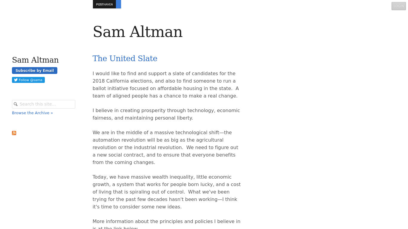 blog.samaltman.com Screenshotx