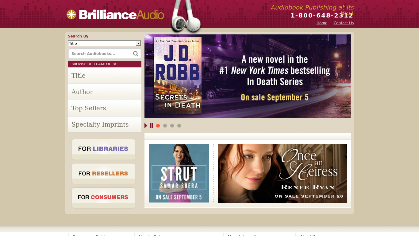 brillianceaudio.com Screenshotx