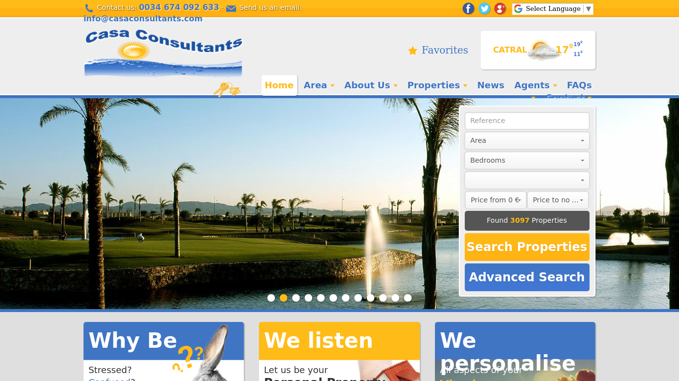 casaconsultants.com Screenshotx