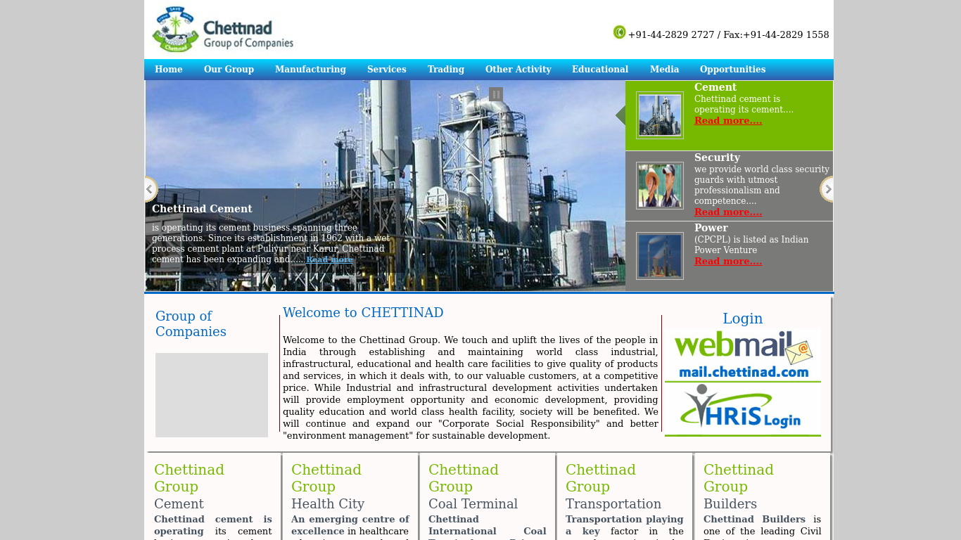 chettinad.com Screenshotx