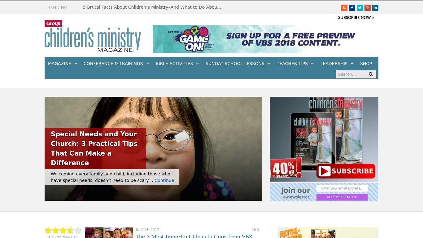 childrensministry.com Screenshotx