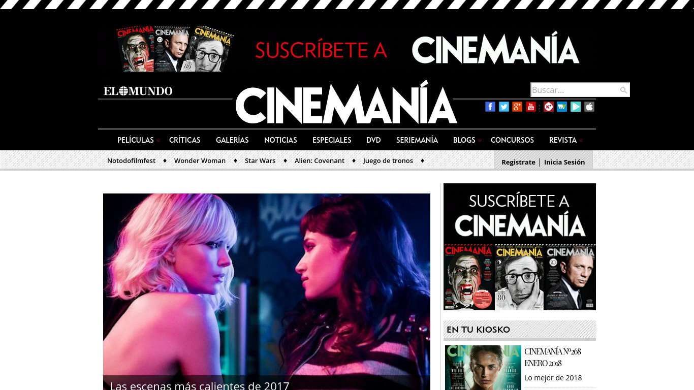 cinemania.elmundo.es Screenshotx