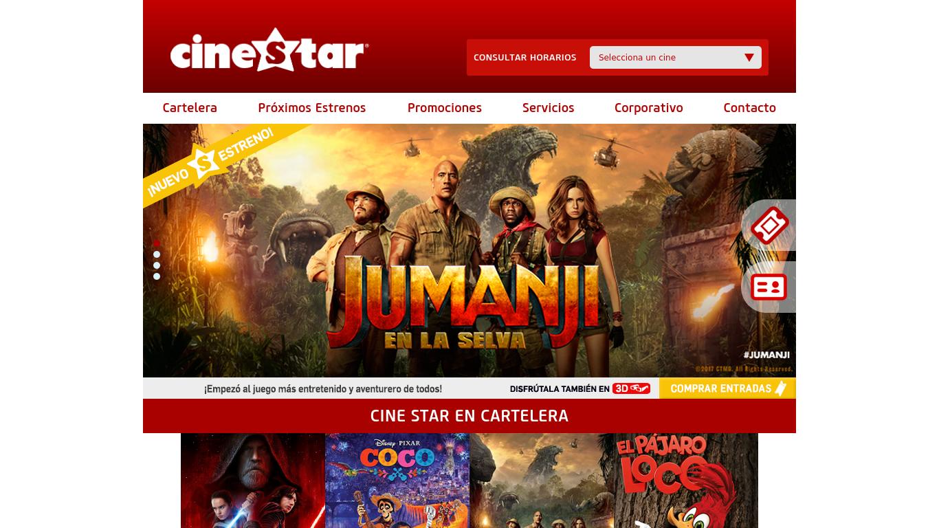 cinestar.cl Screenshotx