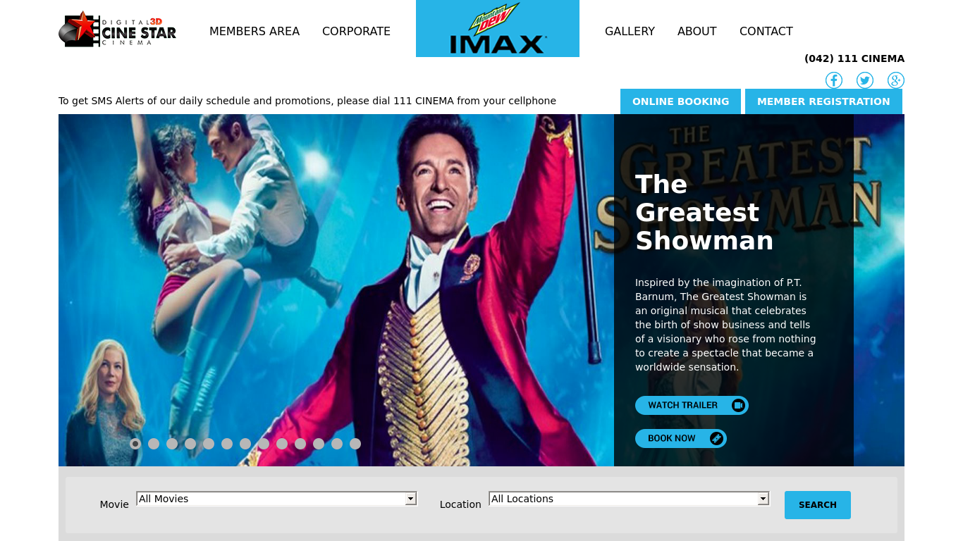 cinestar.com.pk Screenshotx