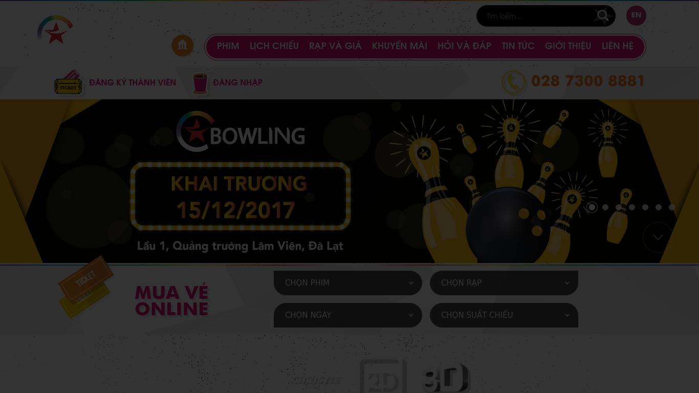 cinestar.com.vn Screenshotx