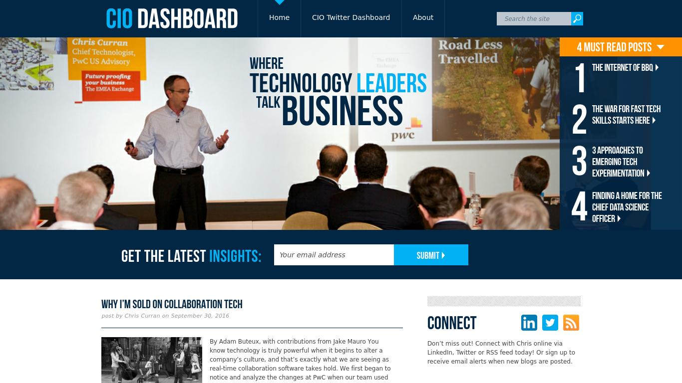 ciodashboard.com Screenshotx