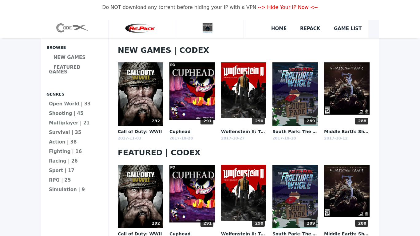 codex-game.com Screenshotx