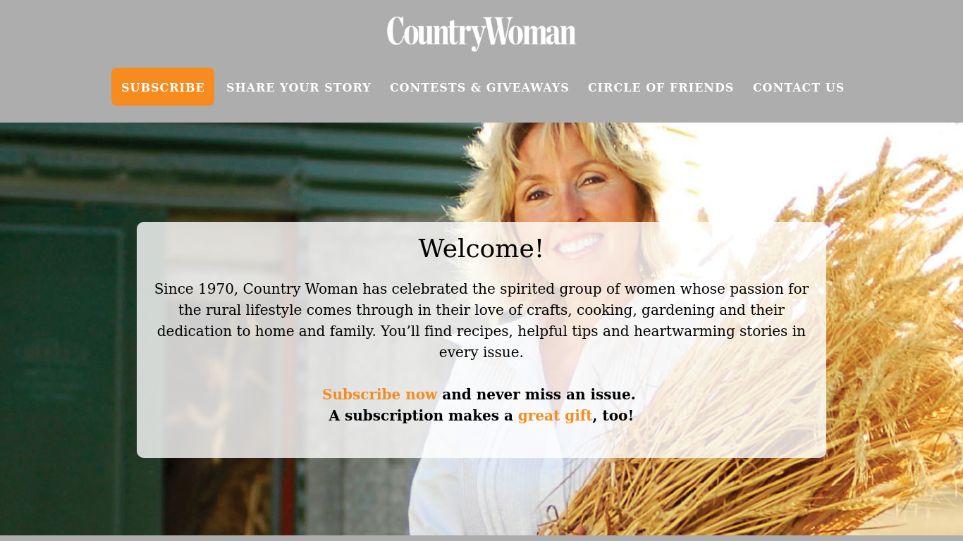 countrywomanmagazine.com Screenshotx