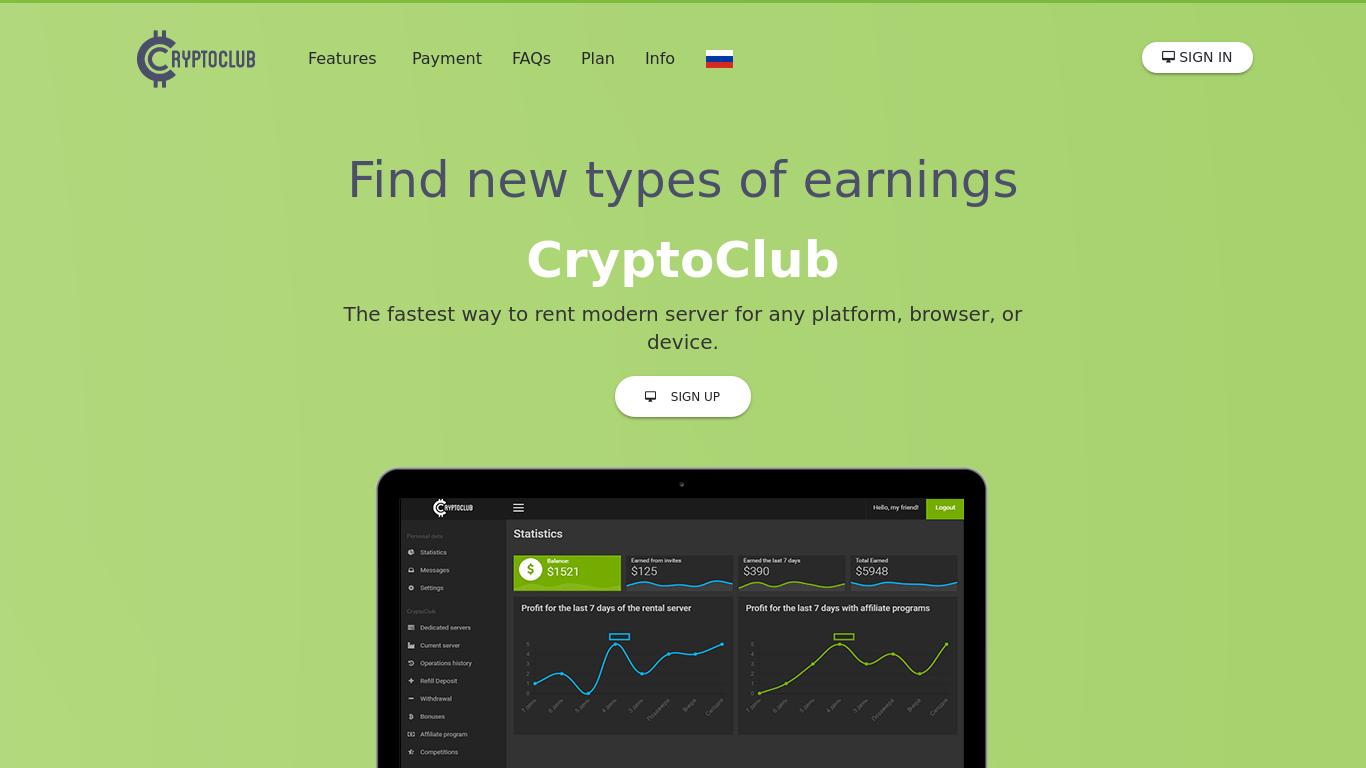 cryptoclub.biz Screenshotx