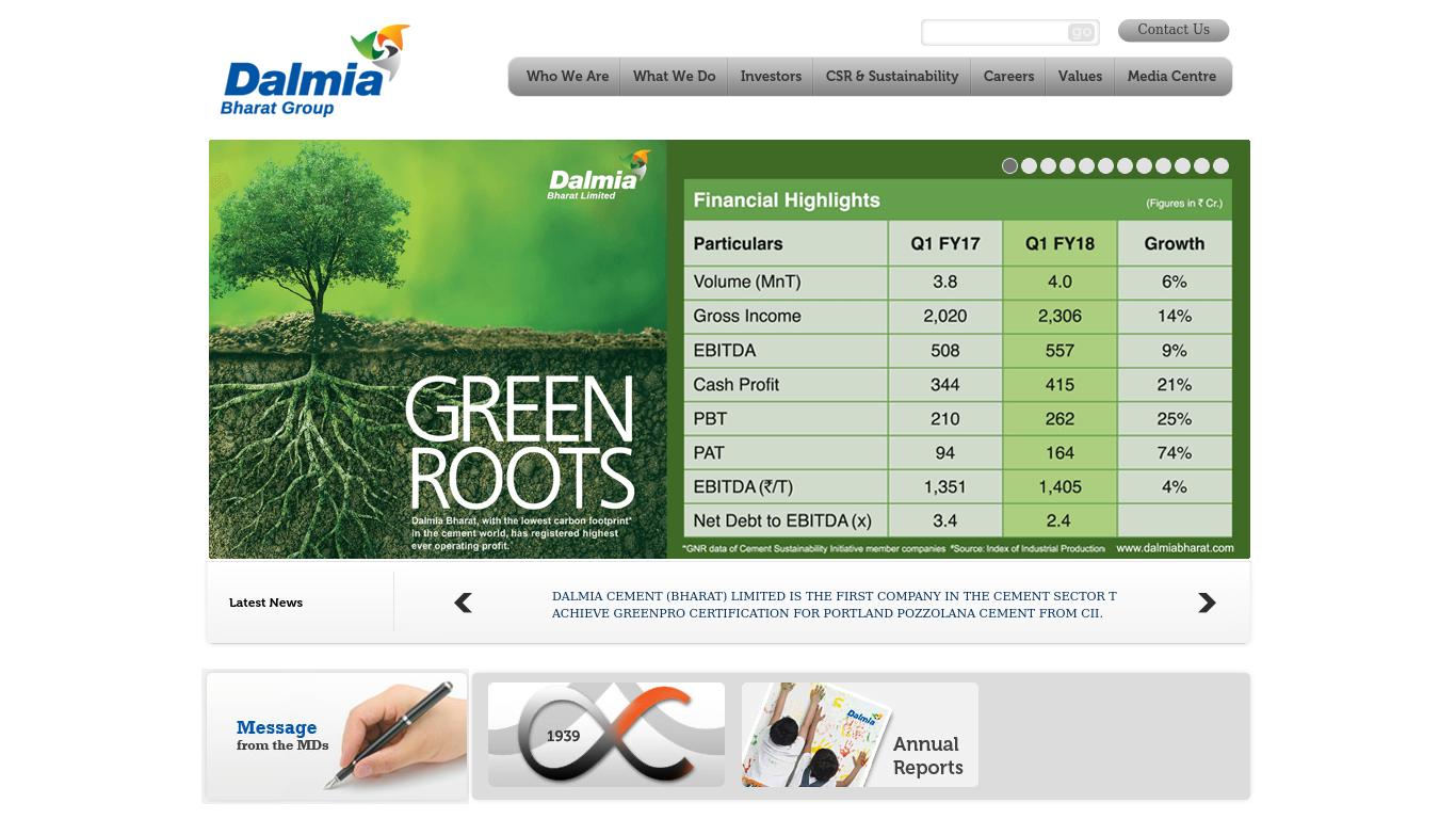 dalmia cement report marketing