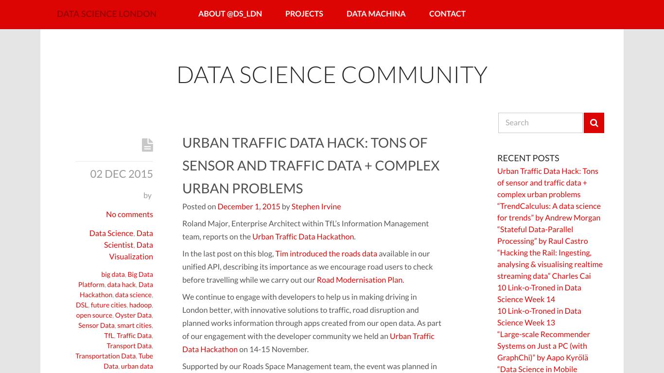 datasciencelondon.org Screenshotx