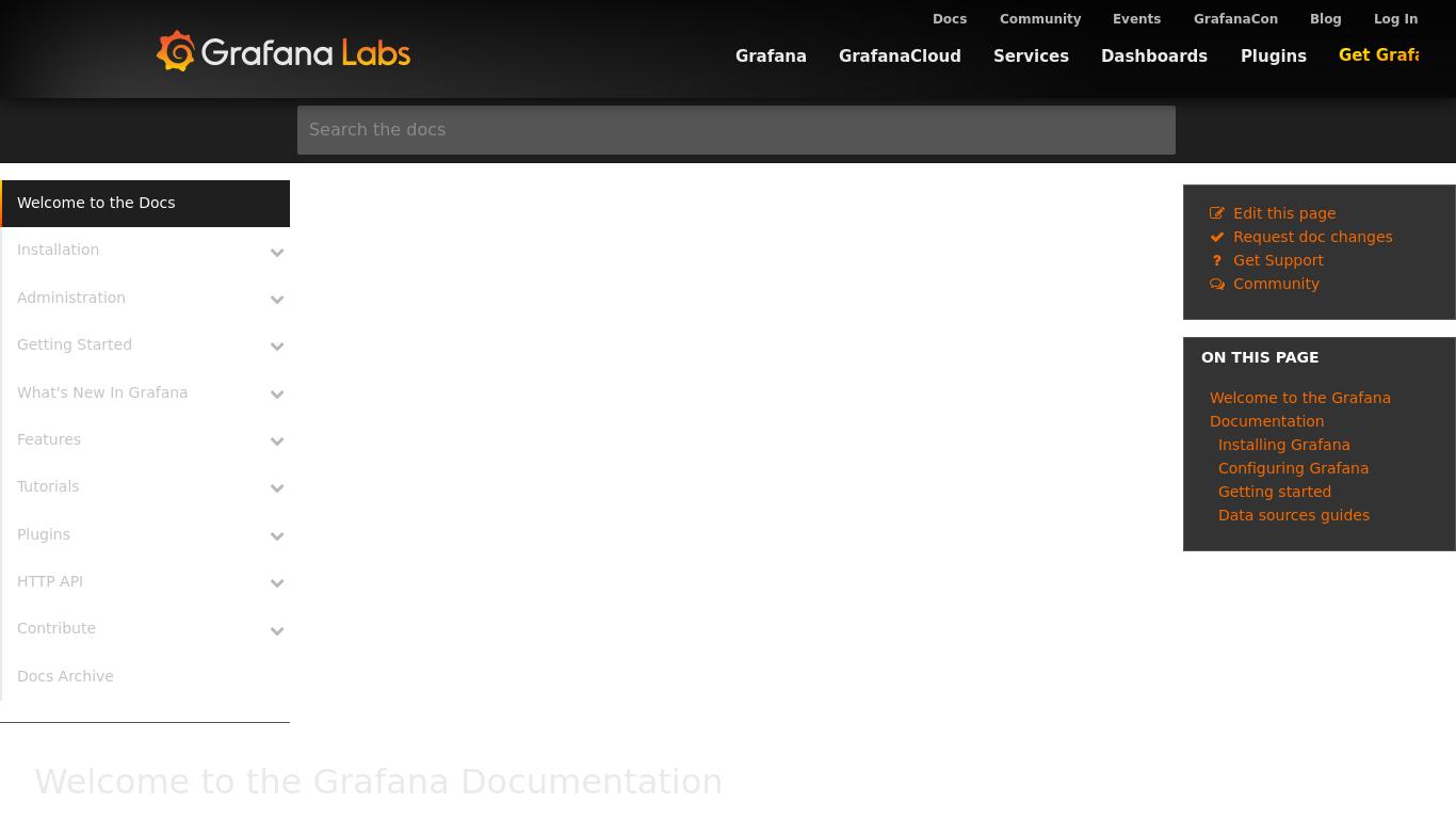 docs.grafana.org Screenshotx