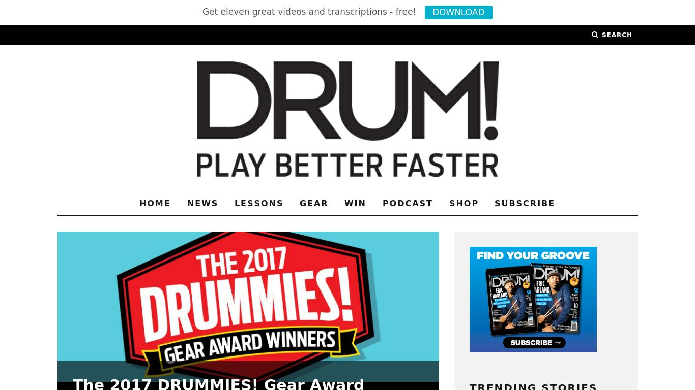 drummagazine.com Screenshotx