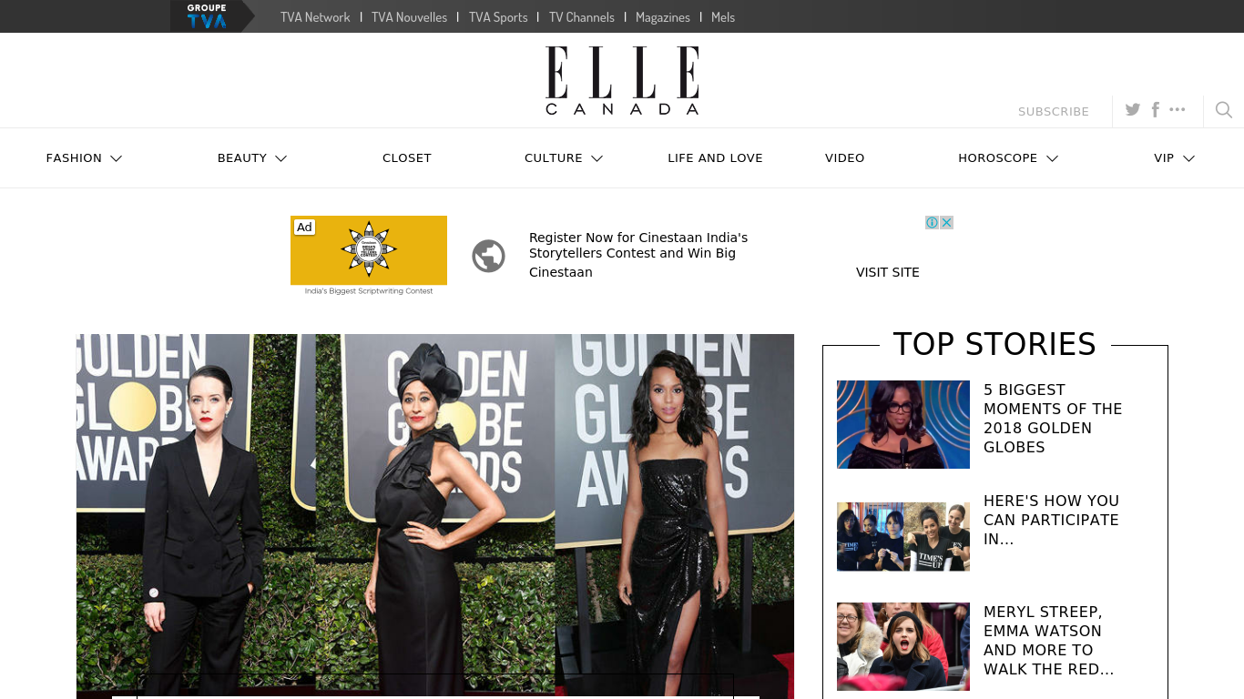 ellecanada.com Screenshotx