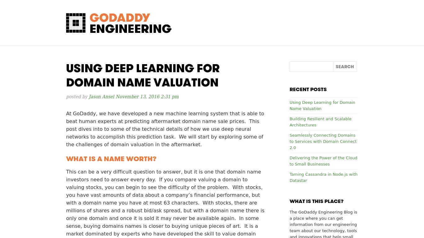 engineering.godaddy.com Screenshotx
