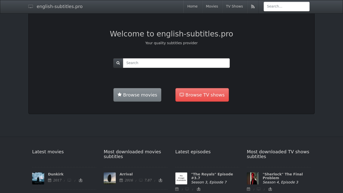 English-subtitles pro Alternatives - 24 Best English
