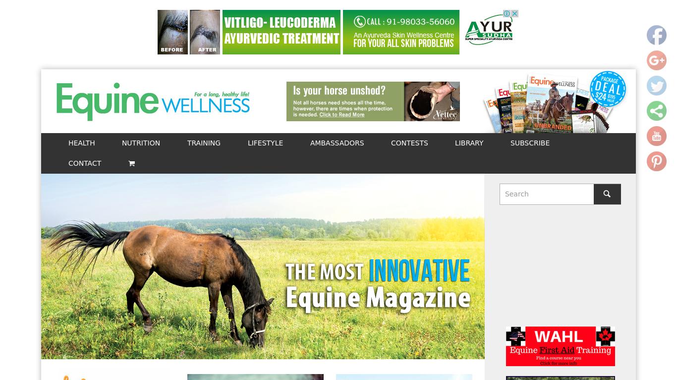 equinewellnessmagazine.com Screenshotx