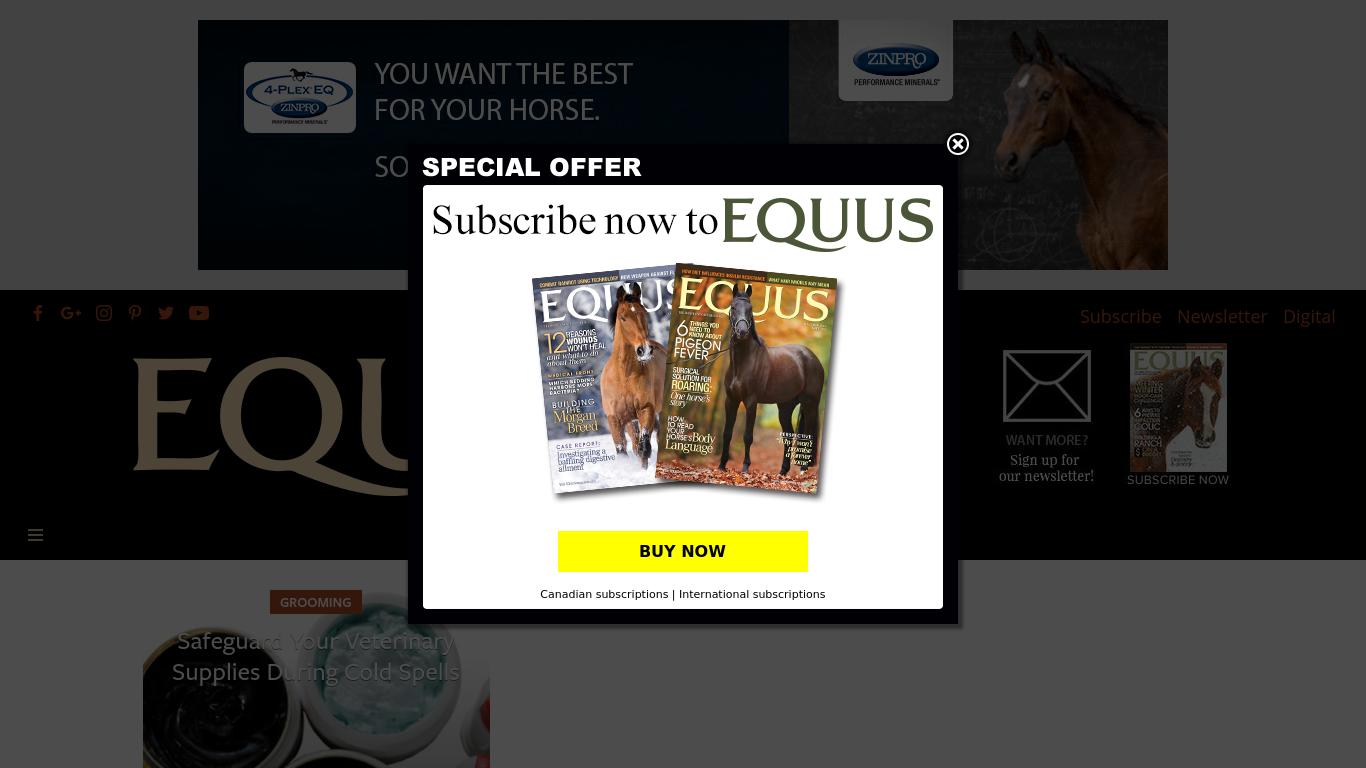 equusmagazine.com Screenshotx