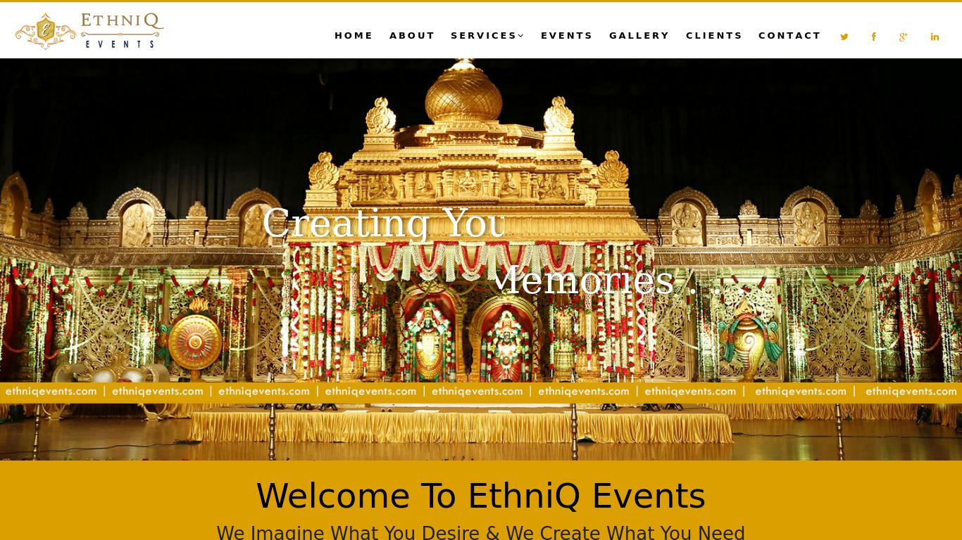 ethniqevents.com Screenshotx