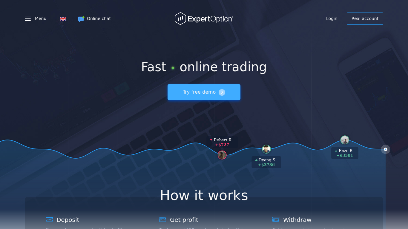 expertoption.com Screenshotx