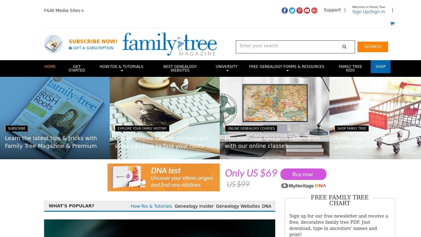 familytreemagazine.com Screenshotx