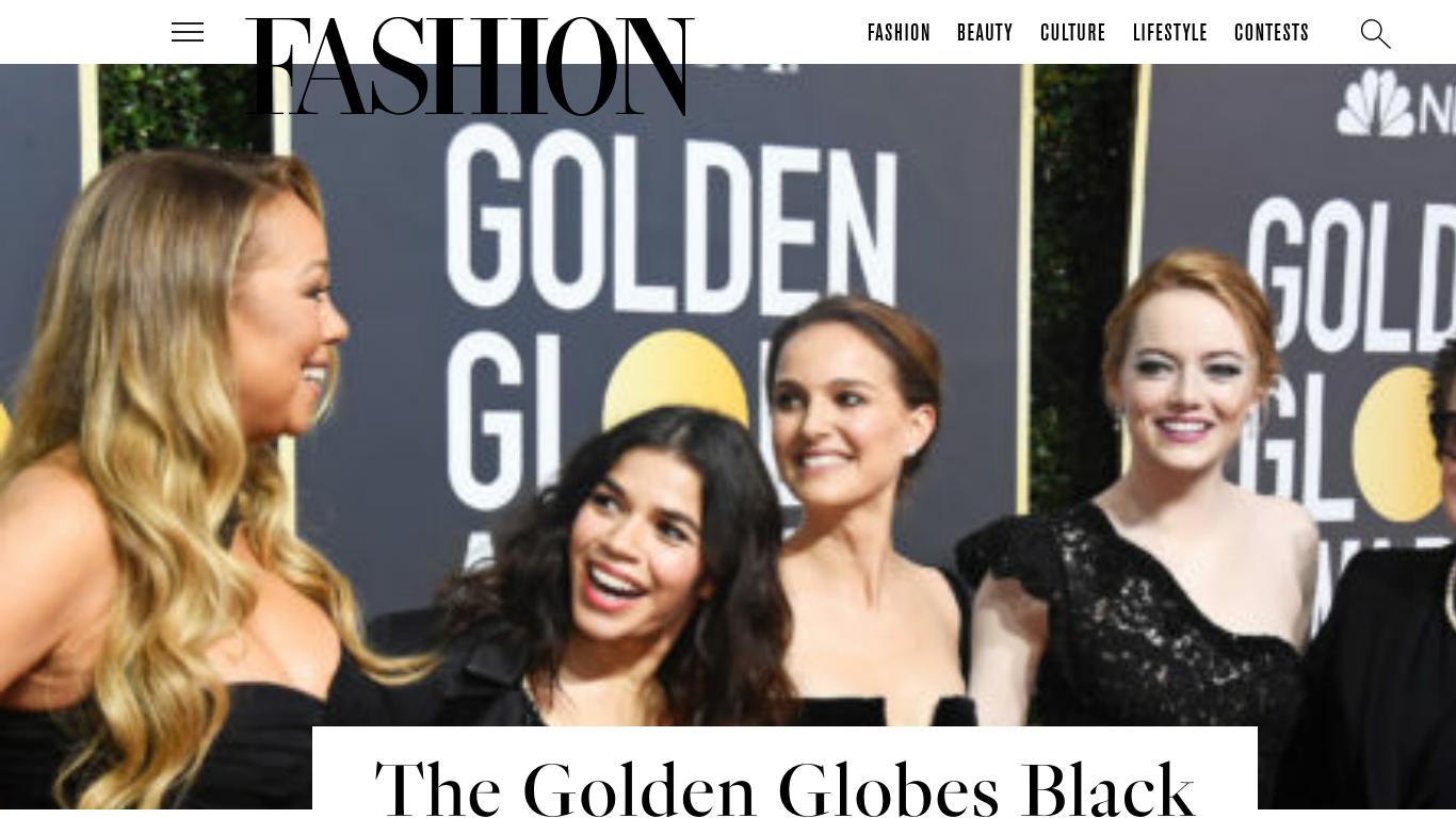 fashionmagazine.com Screenshotx