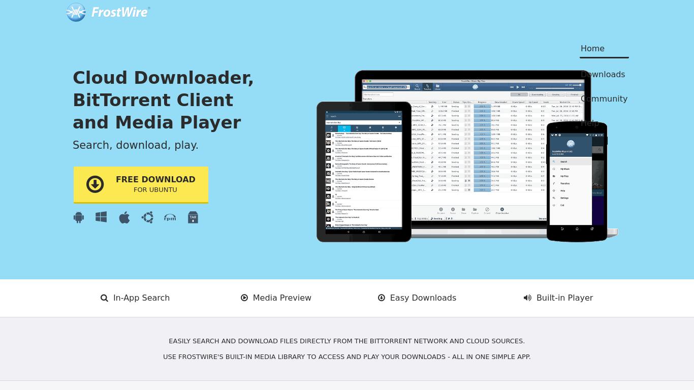 frostwire.com Screenshotx