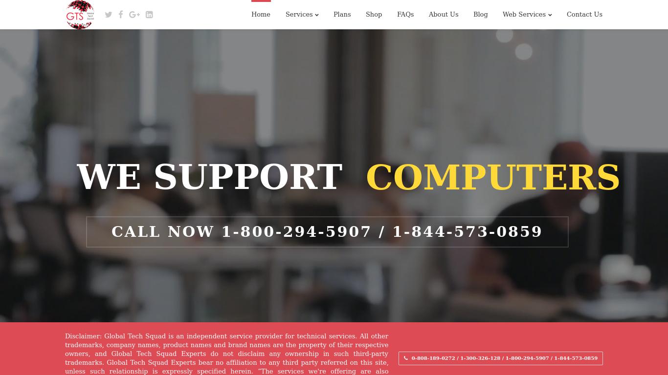 globaltechsquad.com Screenshotx