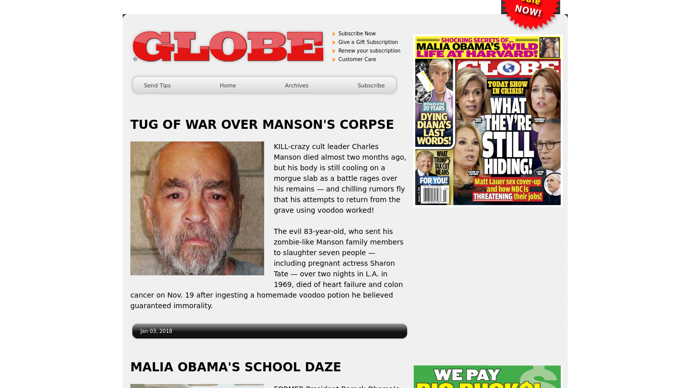 globemagazine.com Screenshotx